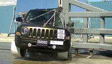 NCAP 2016 Jeep Patriot side pole crash test photo