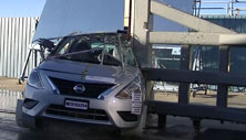 NCAP 2016 Nissan Versa side pole crash test photo