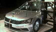 NCAP 2016 Volkswagen Passat side pole crash test photo