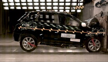 NCAP 2017 Mitsubishi Outlander front crash test photo