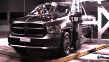 NCAP 2017 Ram 1500 side pole crash test photo