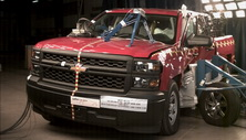 NCAP 2017 Chevrolet Silverado 1500 side crash test photo