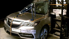 NCAP 2017 Acura MDX side pole crash test photo