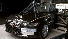 NCAP 2017 Audi A6 side pole crash test photo