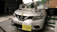 NCAP 2017 Nissan Rogue side pole crash test photo