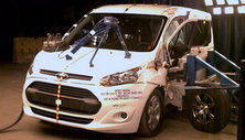 NCAP 2017 Ford Transit Connect side crash test photo