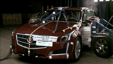 NCAP 2017 Cadillac CTS-V side crash test photo