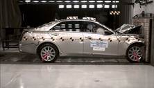 NCAP 2017 Cadillac CTS front crash test photo