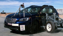 NCAP 2017 Subaru Outback side crash test photo