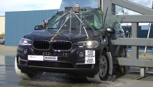2017 BMW X5 SUV AWD after side pole crash test