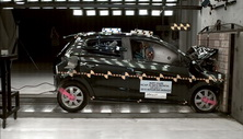 NCAP 2017 Mitsubishi Mirage front crash test photo