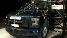 NCAP 2017 Ford F-150 side pole crash test photo
