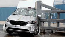 NCAP 2017 Kia Sedona side pole crash test photo