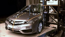 NCAP 2017 Acura ILX side pole crash test photo