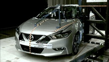 NCAP 2017 Nissan Maxima side pole crash test photo