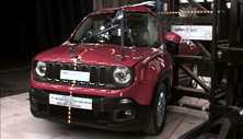 NCAP 2017 Jeep Renegade side pole crash test photo