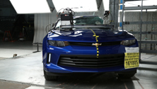 NCAP 2017 Chevrolet Camaro side pole crash test photo
