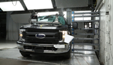 NCAP 2017 Ford F-250 side pole crash test photo