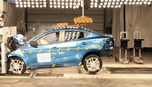 NCAP 2017 Toyota Yaris front crash test photo
