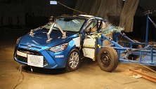 NCAP 2017 Toyota Yaris side crash test photo