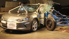 NCAP 2017 Chevrolet Volt side crash test photo