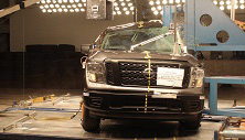 NCAP 2017 Nissan Titan side pole crash test photo