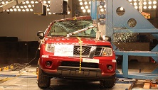 NCAP 2017 Nissan Frontier side pole crash test photo