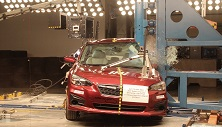 NCAP 2017 Subaru Impreza side pole crash test photo