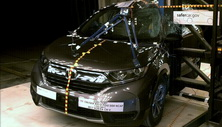 NCAP 2017 Honda CR-V side pole crash test photo