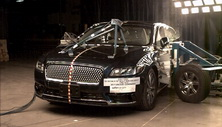 NCAP 2017 Lincoln Continental side crash test photo