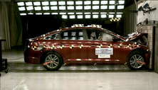NCAP 2018 Hyundai Sonata front crash test photo