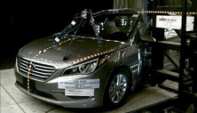 NCAP 2018 Hyundai Sonata side pole crash test photo