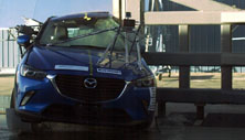 NCAP 2018 Mazda CX-3 side pole crash test photo
