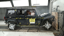 NCAP 2018 Jeep Wrangler front crash test photo