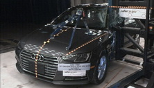 NCAP 2018 Audi A4 side pole crash test photo