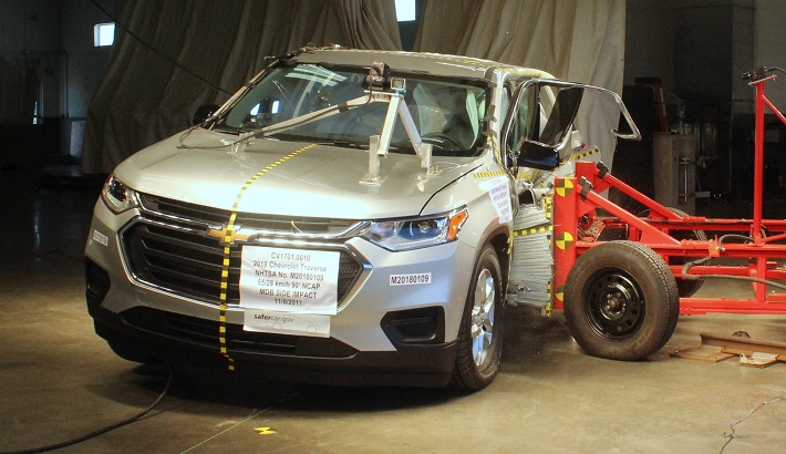NCAP 2018 Chevrolet Traverse side crash test photo