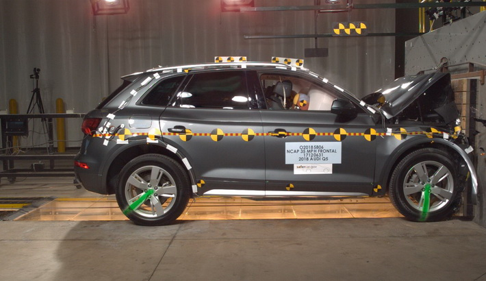 NCAP 2018 Audi Q5 front crash test photo