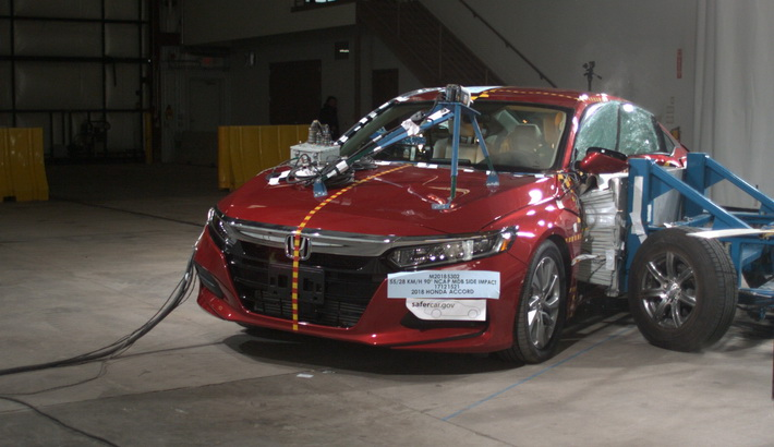 NCAP 2018 Honda Accord side crash test photo