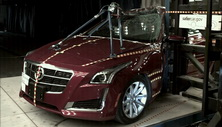 NCAP 2019 Cadillac CTS side pole crash test photo