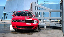 NCAP 2019 Dodge Challenger side pole crash test photo
