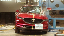 NCAP 2019 Mazda CX-5 side pole crash test photo