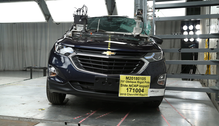 NCAP 2019 Chevrolet Equinox side pole crash test photo