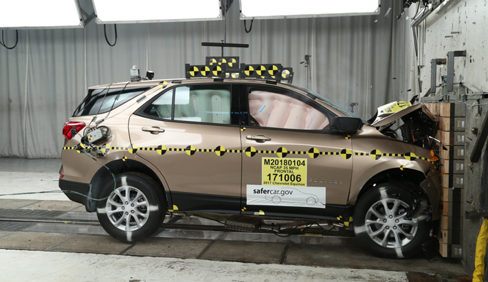 NCAP 2019 Chevrolet Equinox front crash test photo