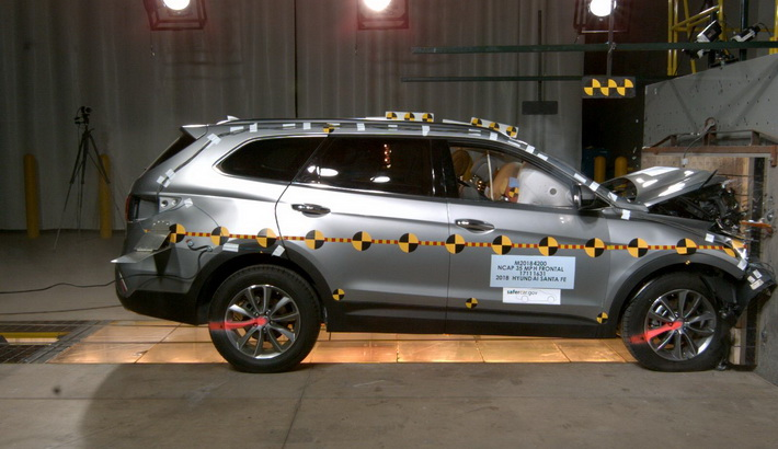 NCAP 2019 Hyundai Santa Fe front crash test photo