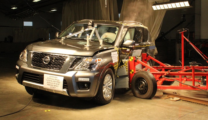 NCAP 2019 Nissan Armada side crash test photo