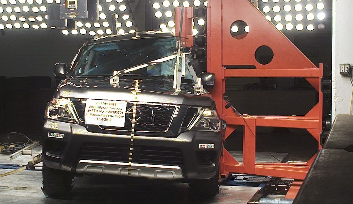 NCAP 2019 Nissan Armada side pole crash test photo