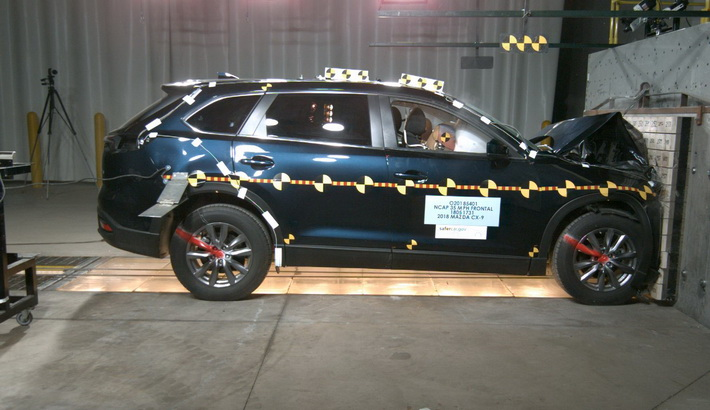 NCAP 2019 Mazda CX-9 front crash test photo