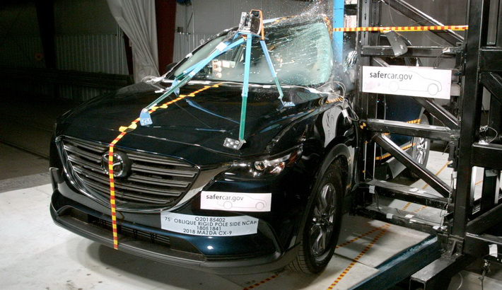NCAP 2019 Mazda CX-9 side pole crash test photo