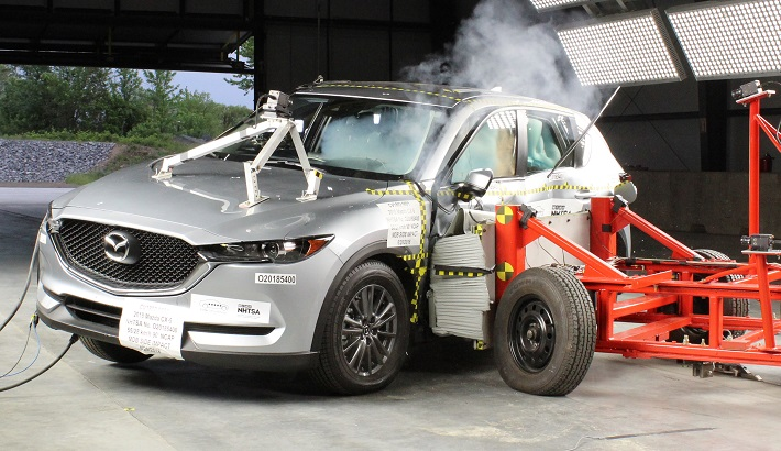 NCAP 2019 Mazda CX-5 side crash test photo
